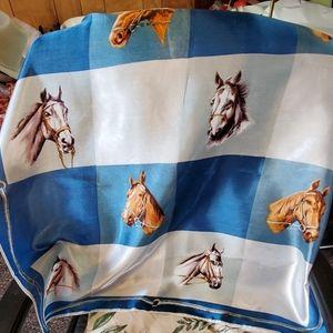 Vintage equestrian horse scarf
